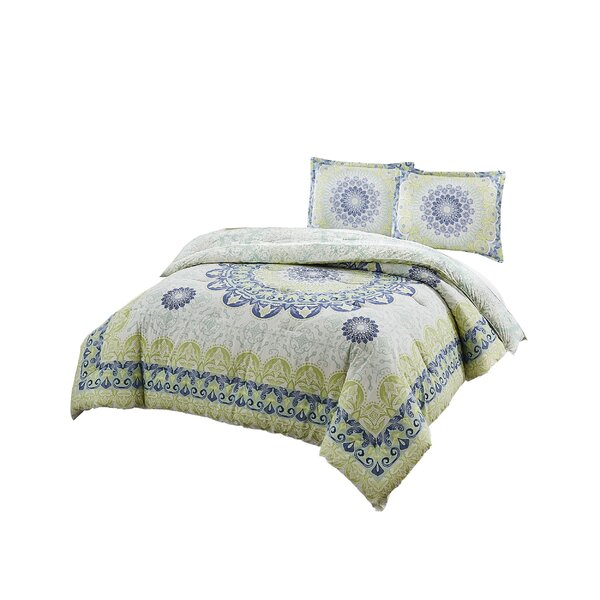 Hydes 100% Cotton Reversible Comforter Set by Bungalow Rose